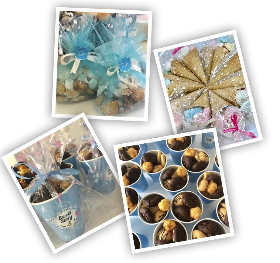 Печенье в стаканах